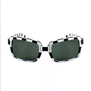 Vintage RayBan B&L Big Benji Checkered Sunglasses